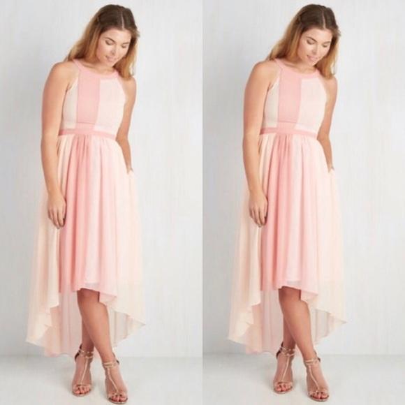 eb2b3511f6300e Modcloth Geode Peachy Queen In Apricot Dress. M_5b32eeb3fe5151684b859833
